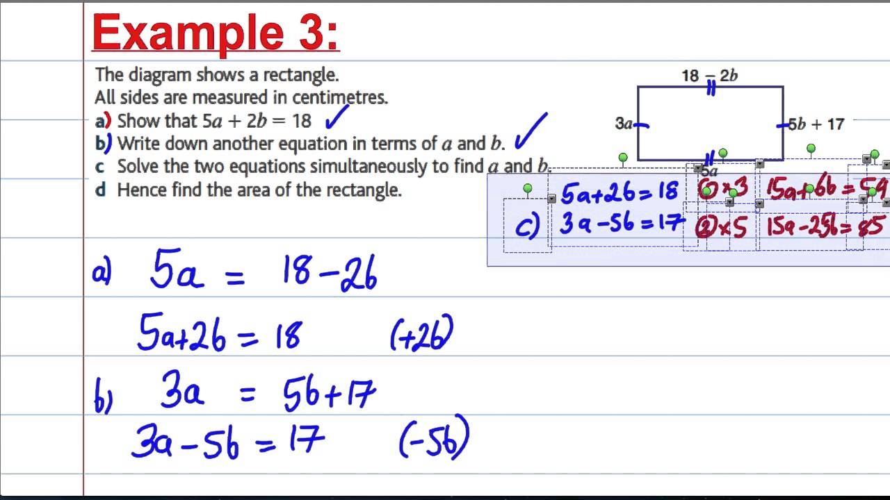 GCSE Maths Revision - Solving simultaneous equations in context (2 ...