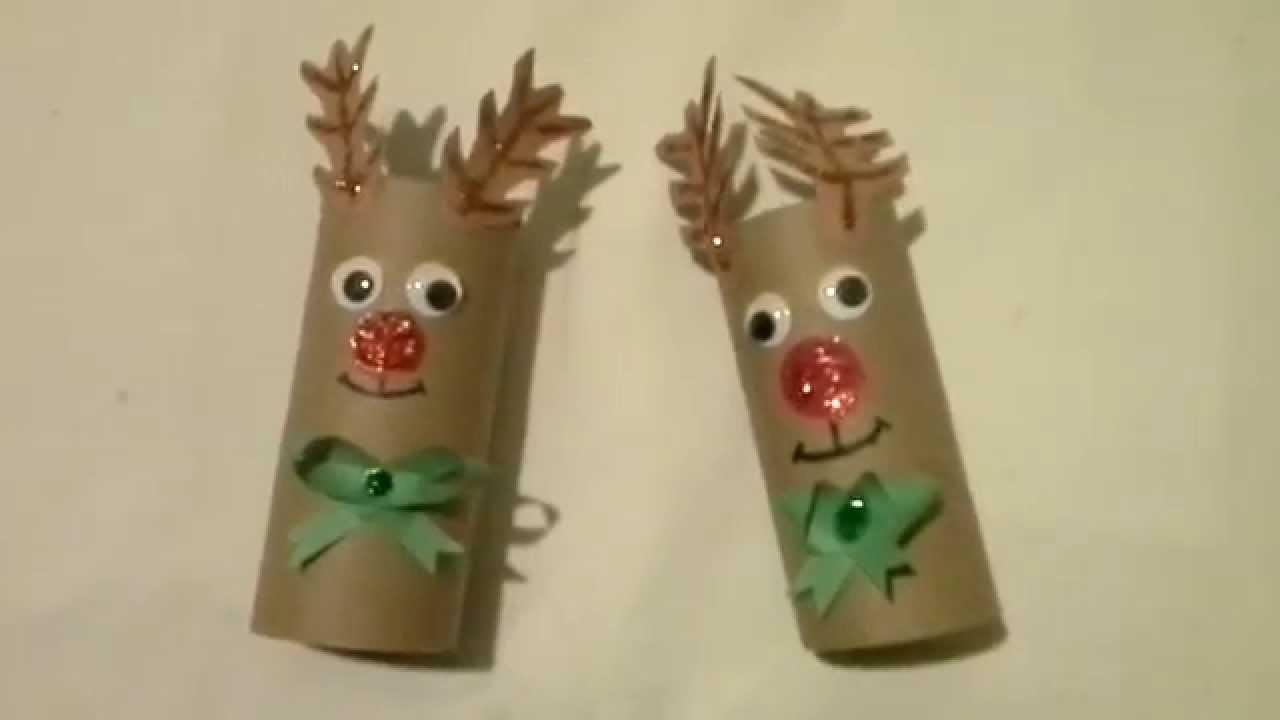 Como hacer reno navide o con carton for Adornos de navidad con carton