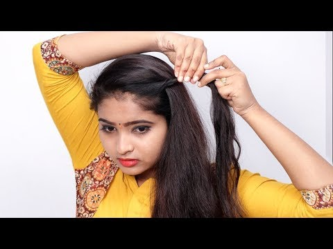 Last minute Hairstyles for party/wedding || Easy Hairstyles for Girls || self Hairstyles thumbnail