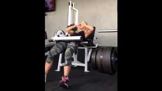 Bumba Glute Workout-Hip Thrusts on Leg Extension Machine