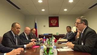 """С.Лавров 🇷🇺 и М.Эбрард 🇲🇽 """"на полях"""" 74-й сессии ГА ООН 🇺🇳, Нью-Йорк, 27 сентября 2019 года"""