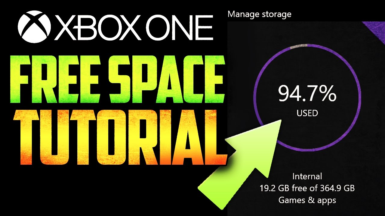 Xbox One   How To Get MORE STORAGE FREE! EASY! [TUTORIAL]::   YouTube