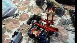 Электрическая моталка для ниток из LEGO
