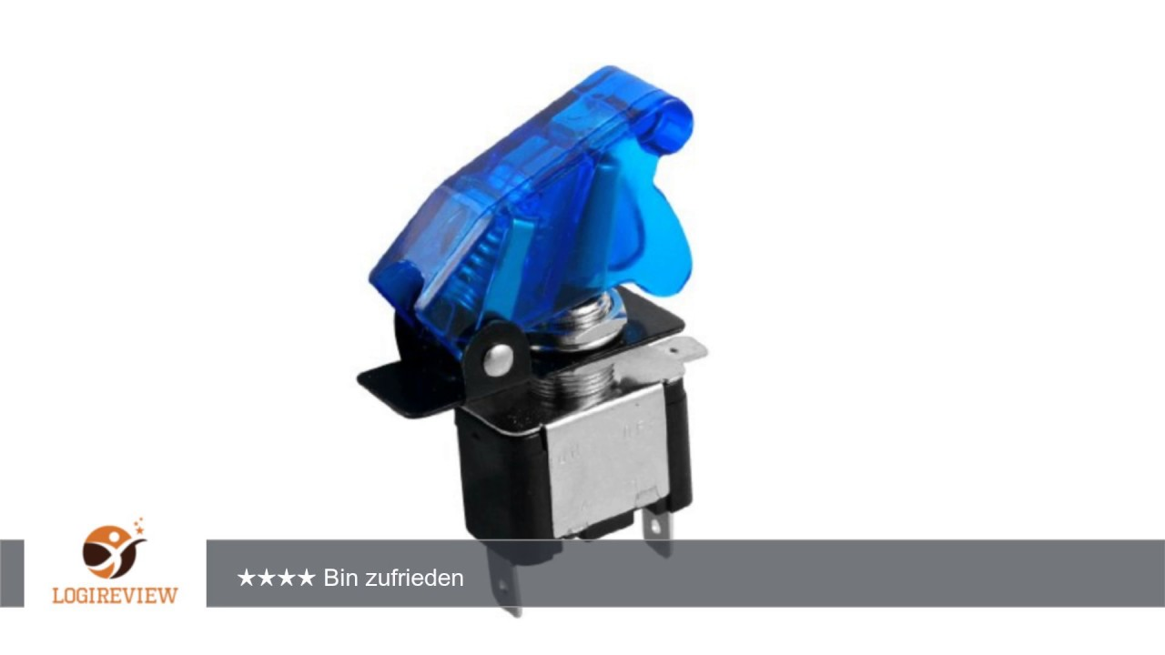 20A 12V 2 Position SPST ON-OFF 3 Pin Kippschalter mit blaue ...