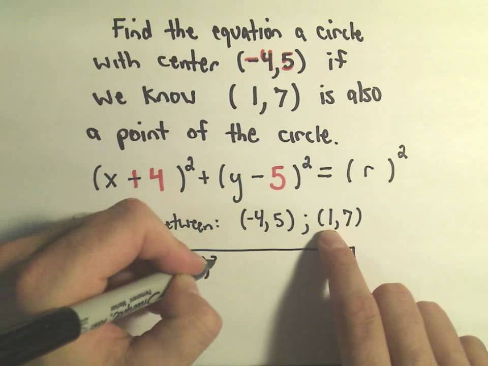 The Center-Radius Form for a Circle - A few Basic Questions ...