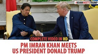 US President Donald Trump Media Talk After Meeting With PM  Mran Khan At The White House