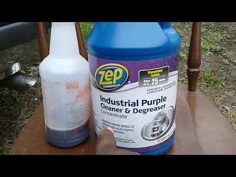 Zep industrial purple cleaner degreaser test review