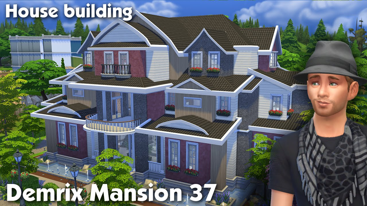The Sims 4: House Building - Demrix Mansion 37 - YouTube