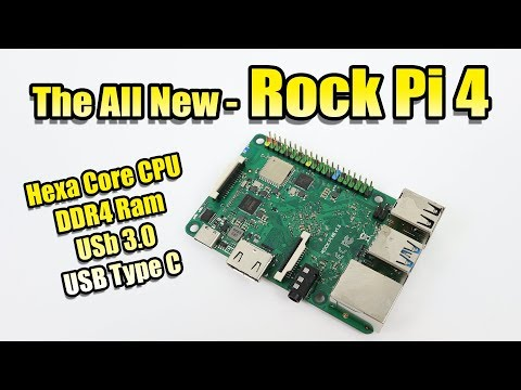 The Rock Pi 4 SBC Hexa Core-DDR4-USB 3.0 Raspberry Pi Form Factor