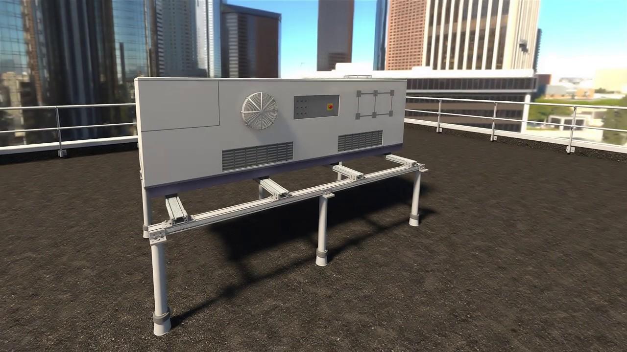 Sherpal syst me de structure support en aluminium pour for Structure toit terrasse