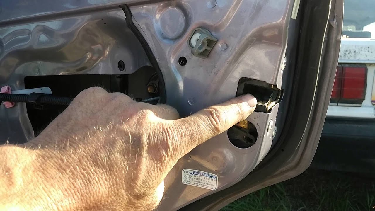 97 Toyota Corolla outside door latch replacement YouTube