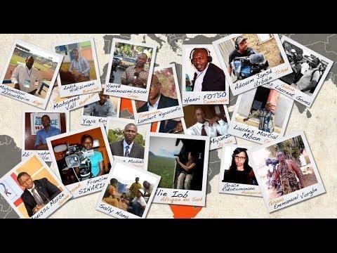 Les visages de correspondants africains de lAITV France Télévisions