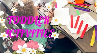 HOW TO ENTERTAIN A TODDLER | EASY TODDLER ACTIVITIES 2020 | TODDLER ACTIVITIES