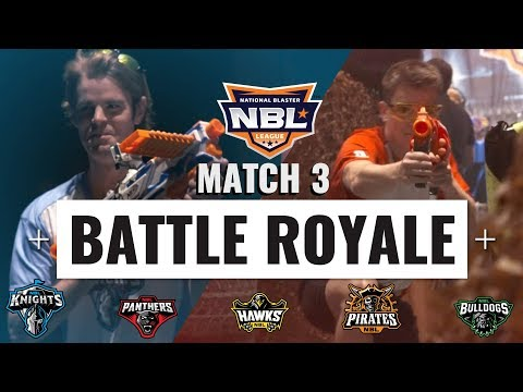 BATTLE ROYALE featuring DRAC and PDK using NERF JOLT | NBL 2018 | MATCH 3
