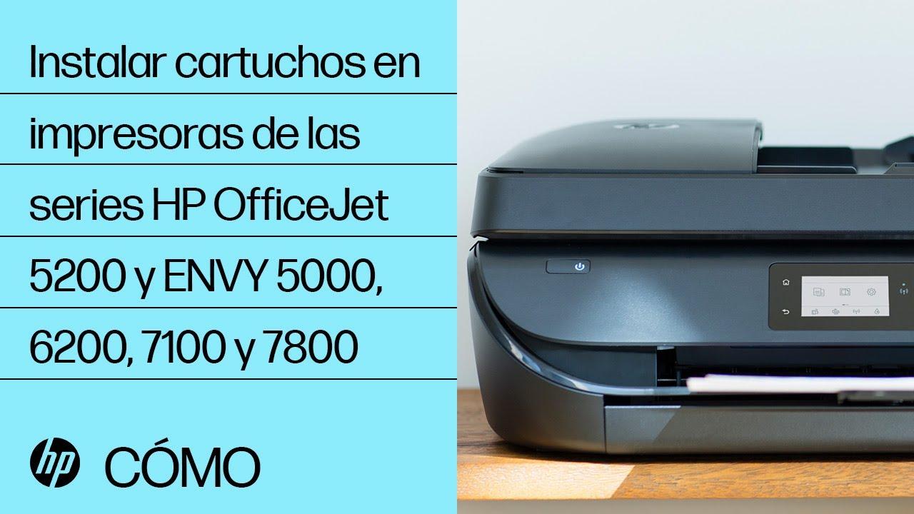 Instalar Cartuchos En Impresoras De Las Series Hp Officejet 5200 Y Envy 5000 6200 7100 Y 7800 Hp Youtube