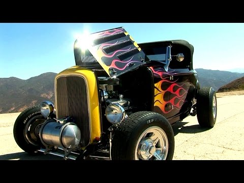 Road Test Burnout  in a 32 Ford HI - BOY American Hot Rod Icon