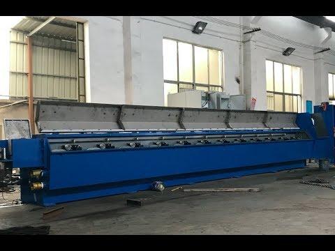 HXE-400/13DL Aluminium rod breakdown machine working in Tanzania