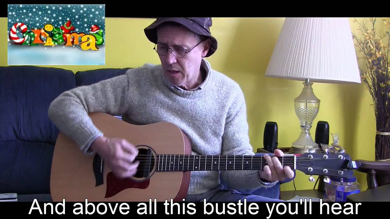 Silver Bells With Lyricschords Acoustic Cover To Playsing Along