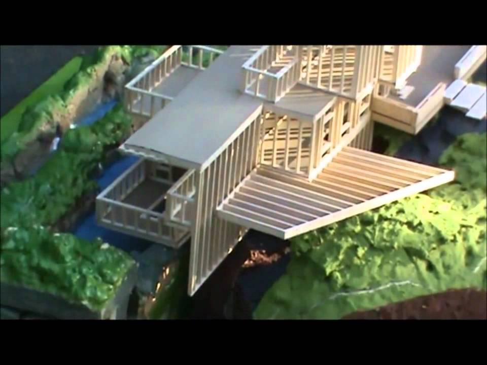 falling water model youtube rh youtube com falling water house model falling water scale model