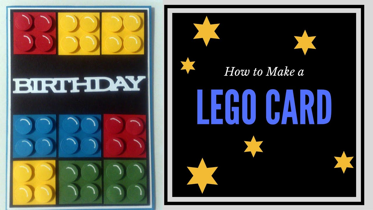 How To Make A Lego Birthday Card