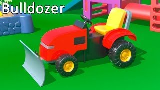 Kid's 3d Construction 2: Build A Bulldozer Demo & Learn To Count Lessons [건설, 자동차, 트랙터, 시멘트 트럭]