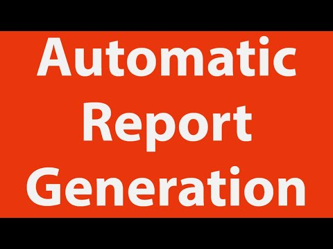 Automatic Report Generation in MS-Excel