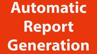 Automatic Report Generation in MS-Excel thumbnail