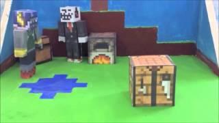 Animación Papercraft / Un día en Minecraft / Trabajo de instituto