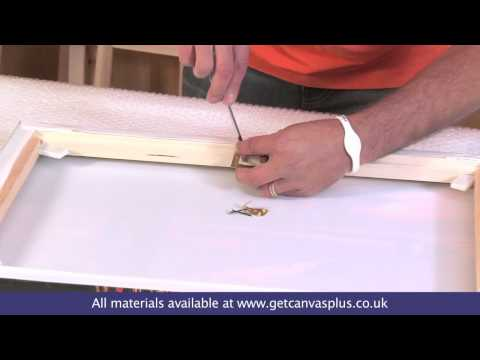 Canvas Hanging and Canvas Hanger Kit How To