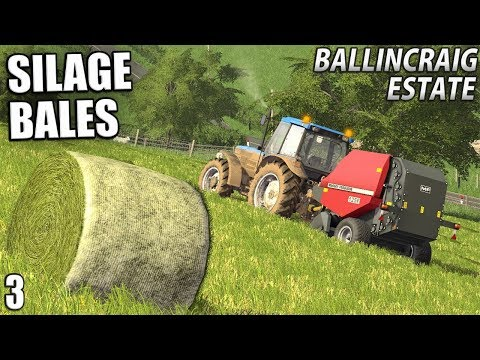 SILAGE BALES WITH MF and McHale | Ballincraig Estate - Episode 3