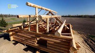 Fabrication de la structure d'un chalet en bois