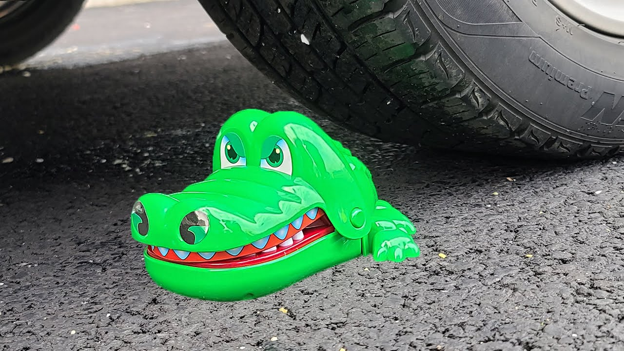 Download Experiment Car vs Alligator toy | Crushing Crunchy & Soft Things by Car | Test