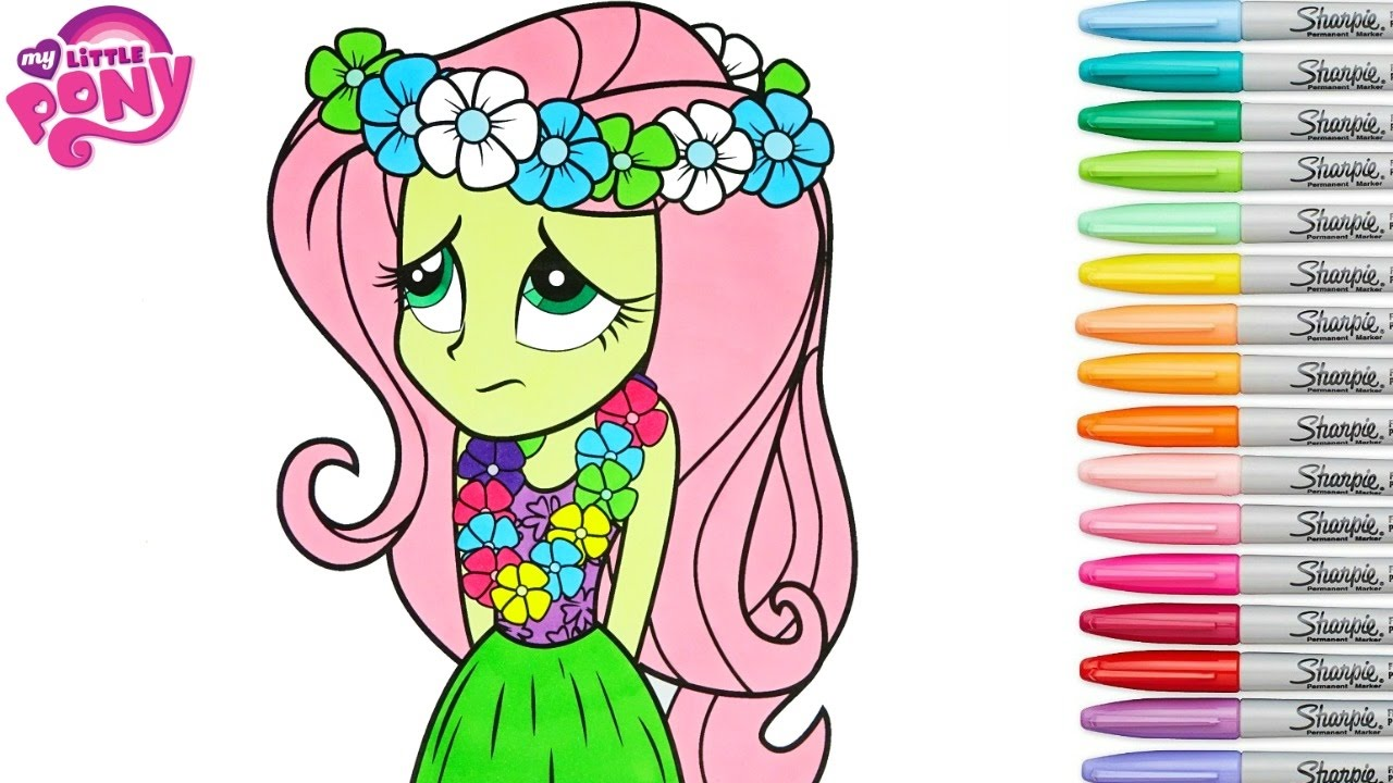 my little pony coloring book fluttershy equestria girls mlp mlpeg