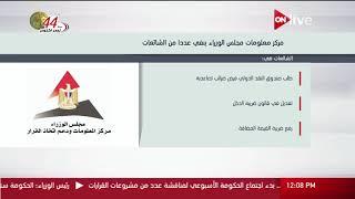 عرض معلوماتي عن أبرز الشائعات التي تم نفيها من قبل مركز معلومات مجلس الوزراء