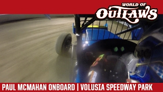 World of Outlaws Craftsman Sprint Cars Paul McMahan Volusia Speedway Park Feb 14, 2017 | ONBOARD