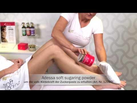 Sanfte Haarentfernung mit Adessa Zuckerpaste   Beine