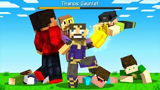 Playing as IMMORTAL THANOS in Minecraft (Insane Craft)