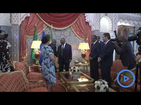 Gabonese President Bongo makes post-stroke appearance