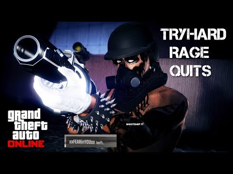 ✪(GTA 5 ONLINE) ANGRY TRYHARD RAGE QUITS 1V1! *Must Watch* ✪