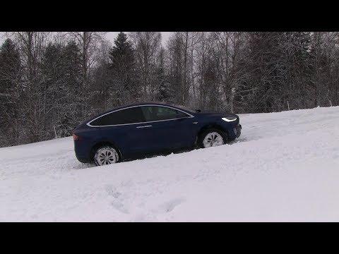 Tesla Model X deep snow test