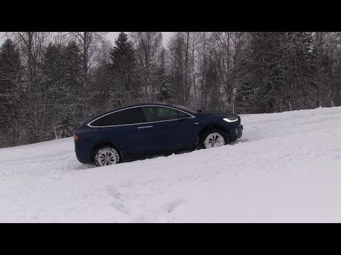 Tesla Model X deep snow test