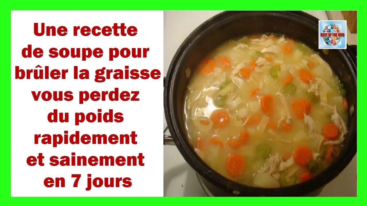 recette de la soupe pour perdre du poids