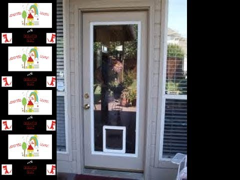Dog Door Built Right into the Glass! - Super Easy Install!
