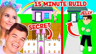 CHALLENGING My BOYFRIEND To A *15 MINUTE BUILD CHALLENGE* In Adopt Me! (Roblox)
