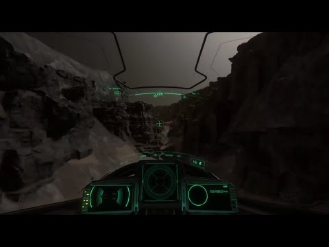 Download Star Citizen: Flying through a canyon on a procedural planet!