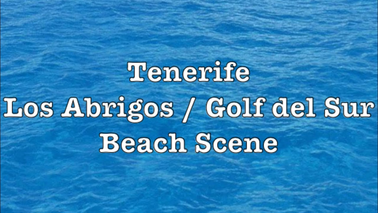 Weather in tenerife los abrigos