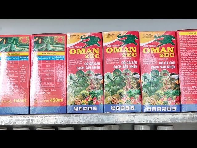 Thuốc Trừ Sâu Oman Trị Sâu Xanh, Nhện Đỏ, Bỏ Trĩ, Vẽ Bùa