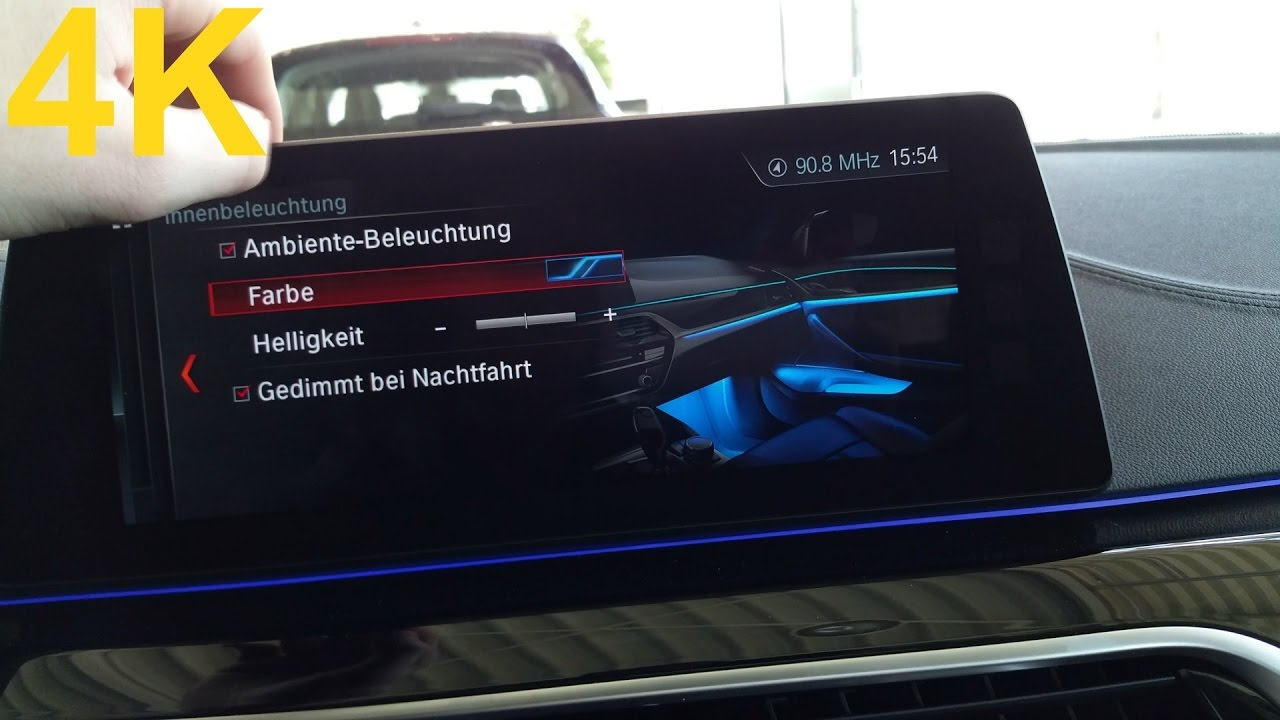 2017 Bmw 5 Series G30 Ambient Lighting All Colors 4k