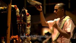 Priest performs Lord Shiva
