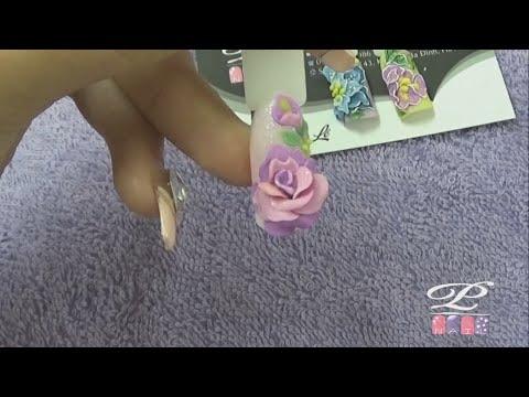 Thực hành hướng dẫn học đắp hoa bột Nail, đắp hoa bột fantasy lên móng tay Bài 1